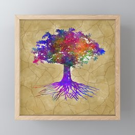 Tree Of Life Batik Print Framed Mini Art Print