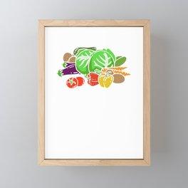 Where The Green Grass Grows - Funny Farming Framed Mini Art Print