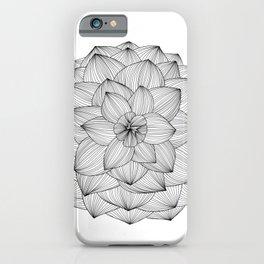 Black FLower Lineart iPhone Case