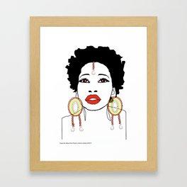 Maasai Earrings Framed Art Print