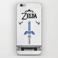 the legend of zelda iPhone & iPod Skins featuring Zelda legend - Sword by Art & Be
