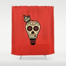Noche de los Muertos - Rojo Shower Curtain