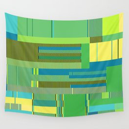 Scandinavian Moon (Parrot Colours) Wall Tapestry