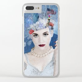 Snowflake Clear iPhone Case