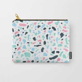 Terrazzo memphis vintage pastel blue green pink Carry-All Pouch