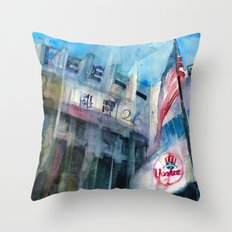 Old Yankee Stadium-House of  Babe Throw Pillow