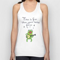 kermit Tank Tops featuring Muppets Kermit by BlackBlizzard