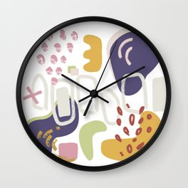 La liberte abstract creative illustration Wall Clock