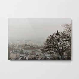 View from, Montmartre   Colourful Travel Photography   Paris, France Metal Print