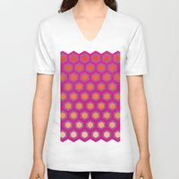 honeycomb V-neck T-shirts featuring Honeycomb by Andrew Jonathan Baker