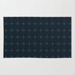 Diamond Wallpaper with Deep Blue Back Rug