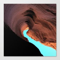 wave Canvas Prints featuring Wave by C Z A V E L L E
