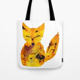 Pressed Flower Fox Tote Bag