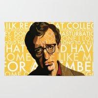 woody allen Area & Throw Rugs featuring Woody Allen - Annie Hall I by FCRUZ