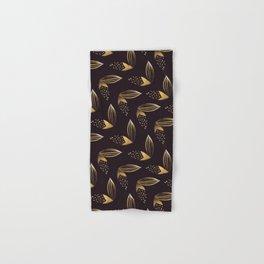Gold Leaf Pattern Hand & Bath Towel
