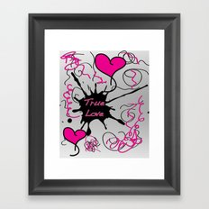 Twin Love Framed Art Print