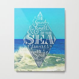 Sound and Smell of the Sea Metal Print