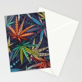boho weed midnight Stationery Cards