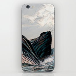 Playful Pod of Whales iPhone Skin