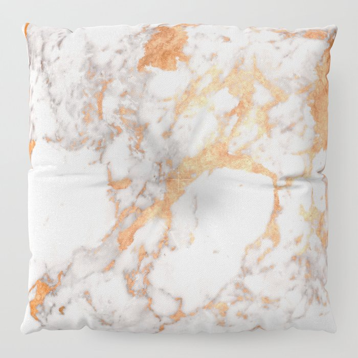 Copper Marble Floor Pillow