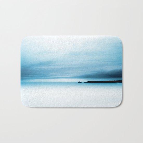 cool blue sea Bath Mat