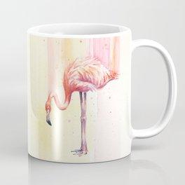Pink Flamingo Watercolor Bird Animals Whimsical Animal Coffee Mug