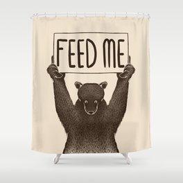Feed Me Bear Shower Curtain
