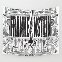 frankenstein Wall Tapestries featuring Frankenstein by Mary Shelley by Ryan Huddle House of H