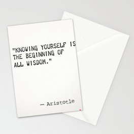 Aristotle quote wisdom Stationery Cards