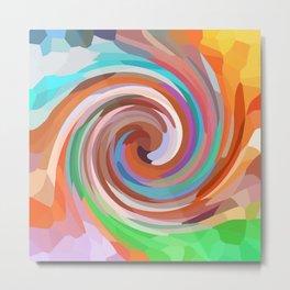 Abstract Twirl Design 675 Metal Print