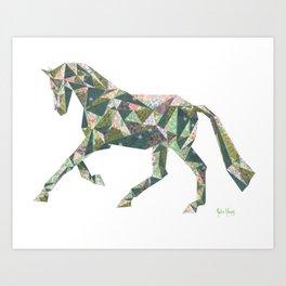 Dressage Horse Cantering Art Print