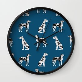 Great Dane harlequin coat dog breed gifts pet patterns for pure breed lovers Wall Clock