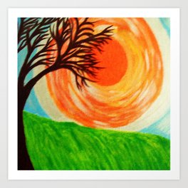The Sun Ablaze Art Print