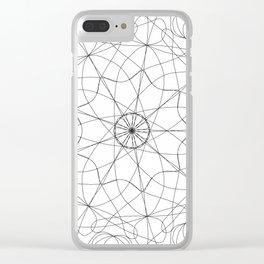 mandala art - floral Clear iPhone Case