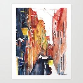Lisbon buildings Art Print