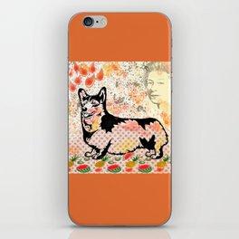 Corgi pop art iPhone Skin