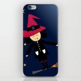 flying witch iPhone Skin