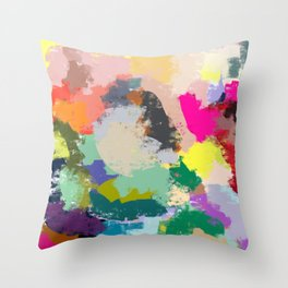 Colour Collision Throw Pillow