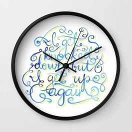 I Get Knocked Down Wall Clock