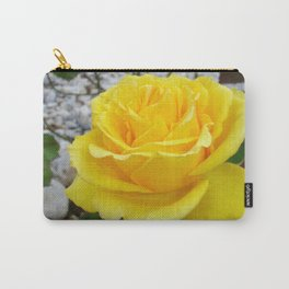 Beautiful Yellow Rose with Natural Garden Background Carry-All Pouch
