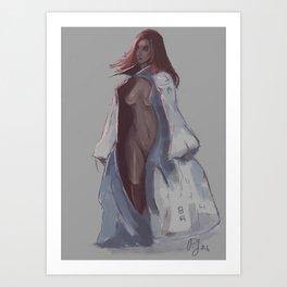 Cloaked Fem Art Print