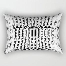 Black White Geometricals With Mandala Rectangular Pillow