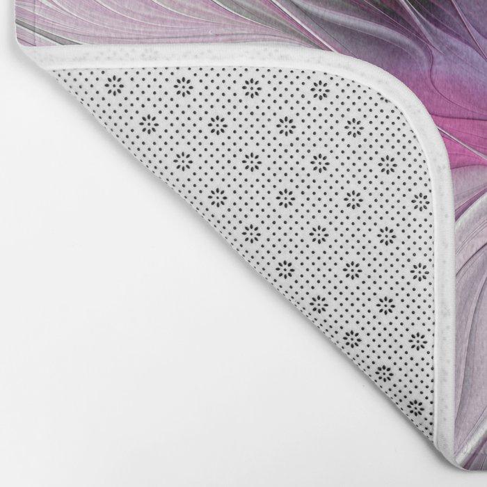 A Blooming Dream, Abstract Fractal Art Bath Mat