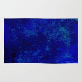 Blue Night- Abstract digital Art Rug