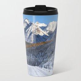 Winter Wonderland - Road in the Canadian Rockies Travel Mug