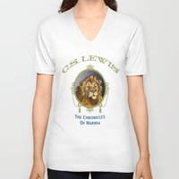 narnia V-neck T-shirts featuring The Chronicles of Narnia by Quigley Down Under