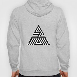 Triangle Pattern Black And White Hoody