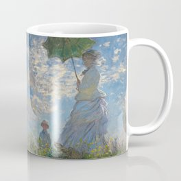The Walk, Woman with a Parasol by Claude Monet Coffee Mug