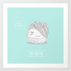 emo muffin Art Print