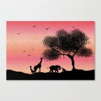 safari Canvas Prints featuring Safari  by Katy Kaydash